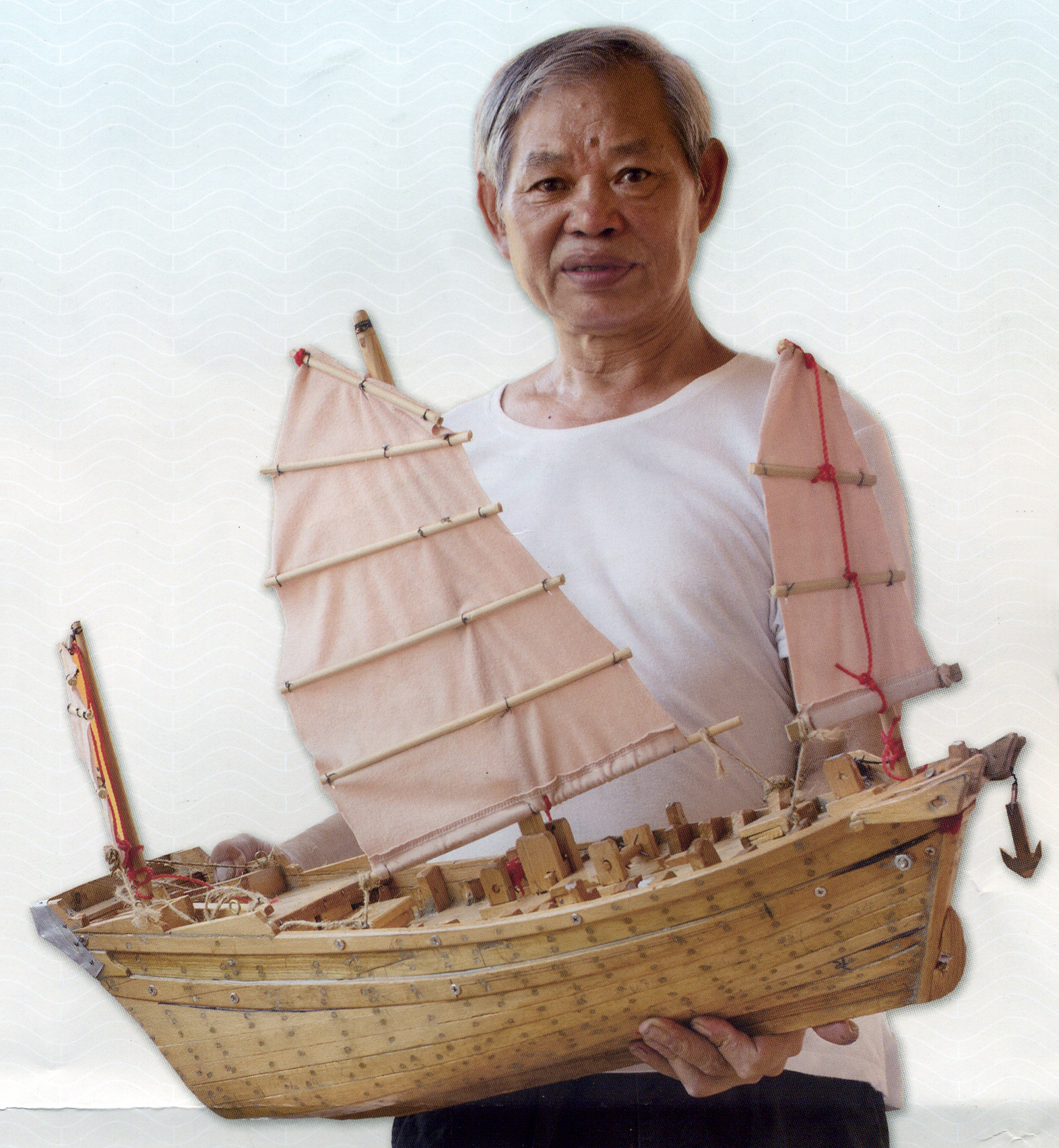 溫泉這一輩子都在建造大大小小的船隻