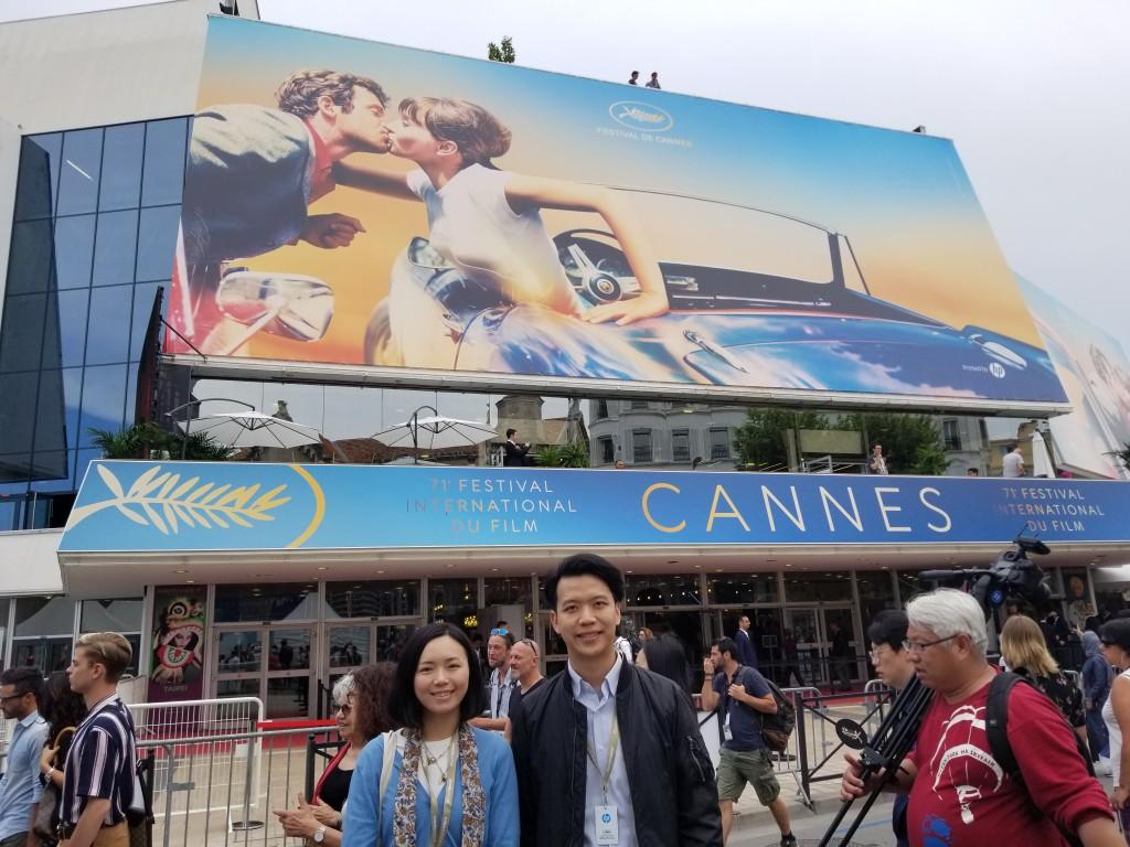 """創立""""1220""""公司後,與監製黃樂欣遊走世界各地影展及電影市場,推介本地作品。(相片由受訪者提供)"""
