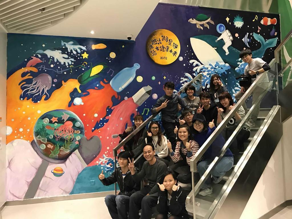 藉着大型牆繪活動,培養本地繪畫人才。(相片由受訪者提供)