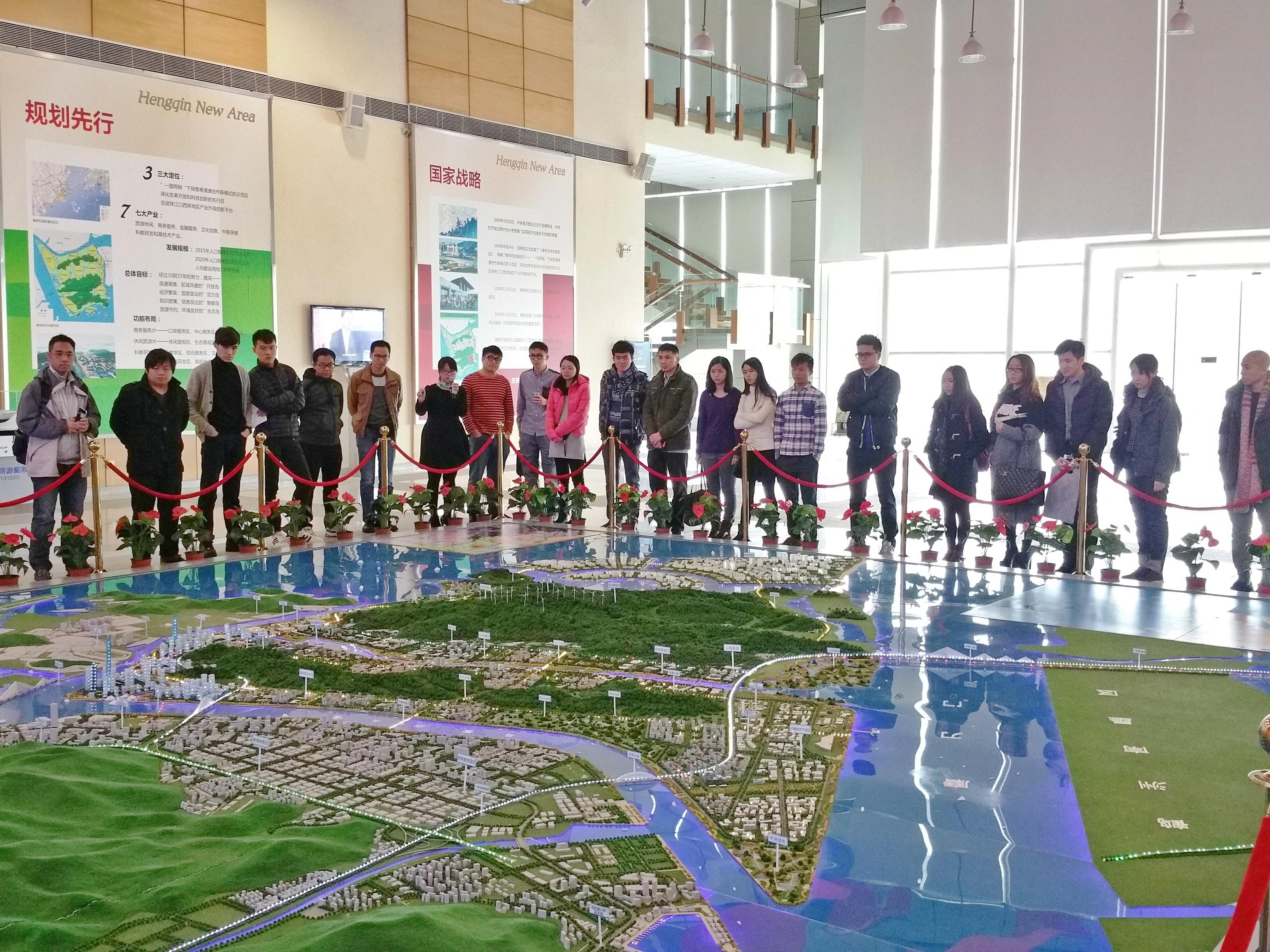 A09-2015年工聯青委組織本澳青年參觀橫琴新區規劃建設展示廳